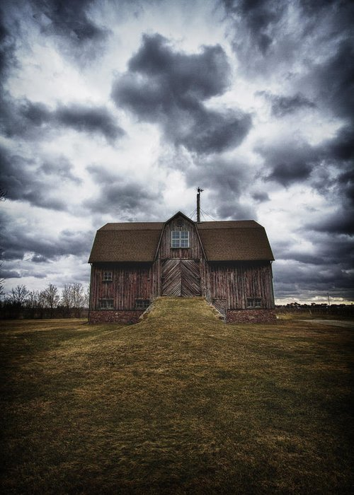 Barn Greeting Card featuring the photograph The Devil In Me Said Go Down To The Shed.... by Russell Styles