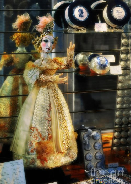 Mozart Greeting Card featuring the photograph The Doll Salzburg by Mary Machare