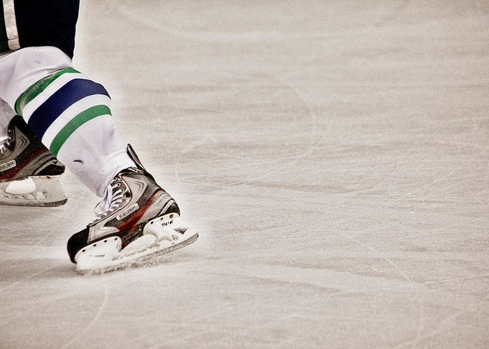 Hockey Greeting Card featuring the photograph The Edge by Karol Livote