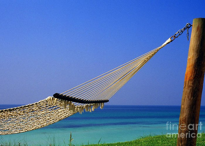 Hammock Greeting Card featuring the photograph The Emerald Coast by Thomas R Fletcher