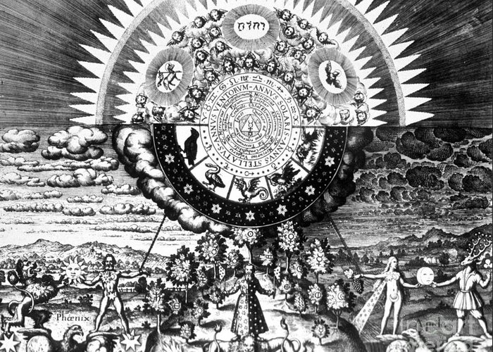 History Greeting Card featuring the photograph The Emerald Tablet, 1618 by Science Source
