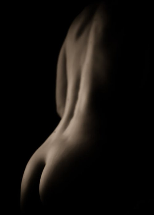Nude Greeting Card featuring the photograph The End by Tony Polain