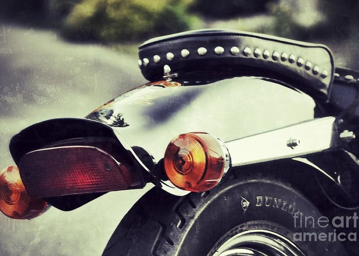 Motorcycle Greeting Card featuring the photograph The End by Traci Cottingham