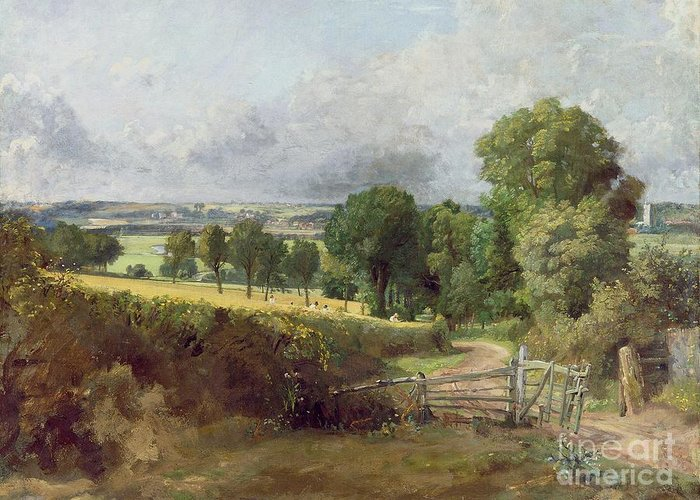 Landscape; Suffolk Greeting Card featuring the painting The Entrance To Fen Lane By Constable John by John Constable