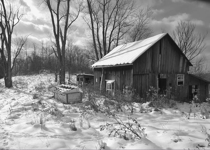 Barn Greeting Card featuring the photograph The Evolution Of Time by Joan Kerns
