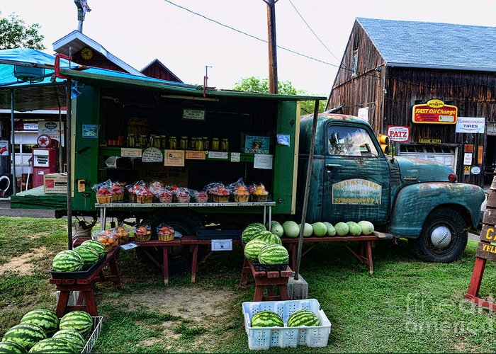 Farmer's Market Greeting Card featuring the photograph The Farmer's Truck by Paul Ward