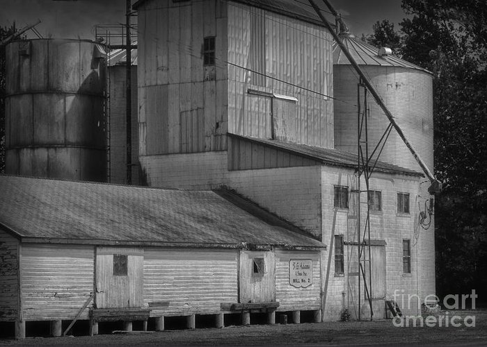 Old Greeting Card featuring the photograph The Feed Mill by Tamera James