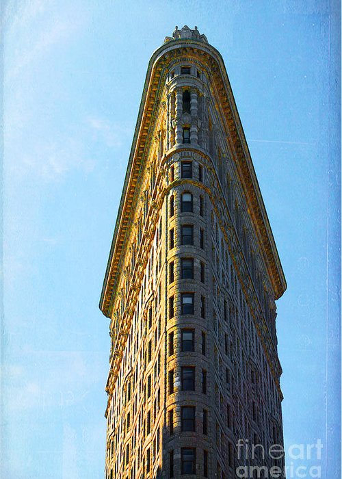 Flatiron Building Greeting Card featuring the photograph The Flatiron by Kim Fearheiley