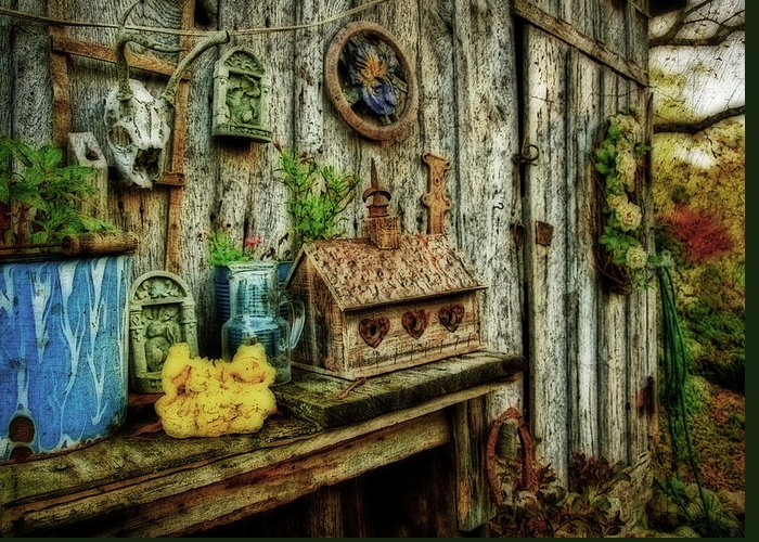 Shed Greeting Card featuring the photograph The Garden Shed by Kathy Jennings