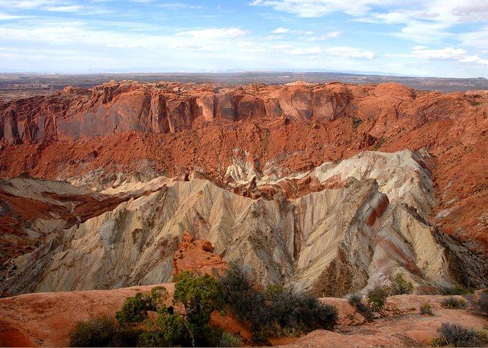 Fine Art Photography Greeting Card featuring the photograph The Great Upheaval Dome by David Lee Thompson