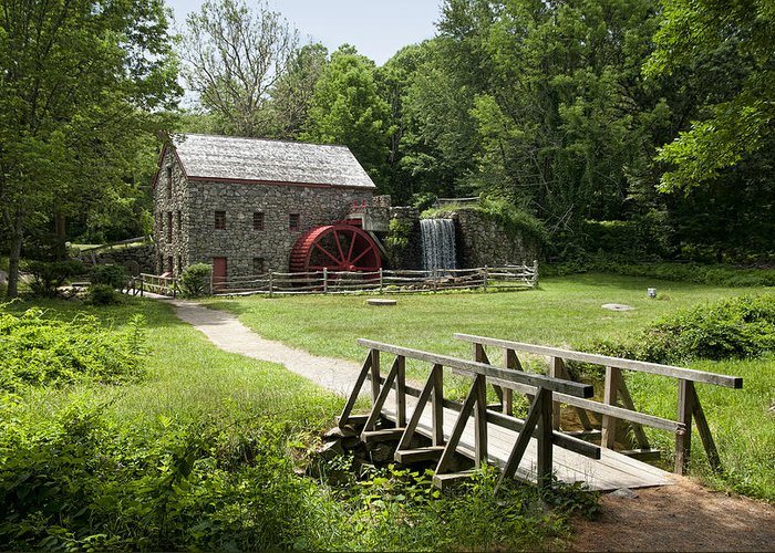 Grist Mill Greeting Card featuring the photograph The Grist Mill by Lee Fortier