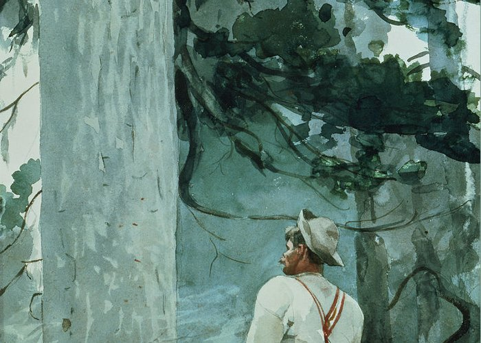 The Guide Greeting Card featuring the painting The Guide by Winslow Homer