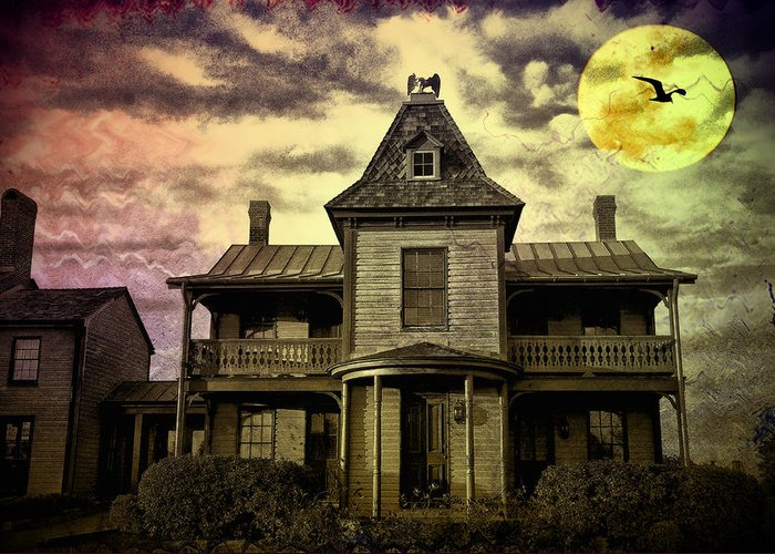 Haunted Greeting Card featuring the photograph The Haunted Mansion by Bill Cannon