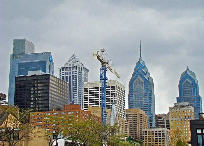 Philadelphia Greeting Card featuring the photograph The Heart Of The City - Philadelphia Pennsylvania by Mother Nature