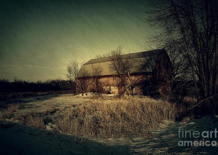 Barn Greeting Card featuring the photograph The Hiding Barn by Joel Witmeyer