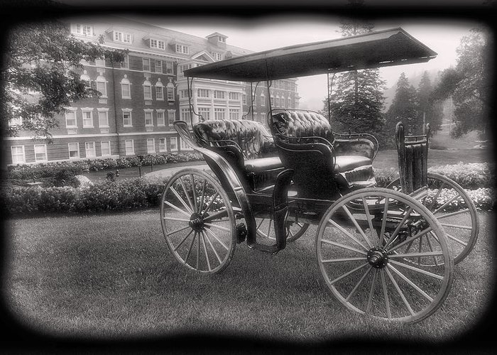 Buggy Greeting Card featuring the photograph The Homestead Carriage I by Steven Ainsworth