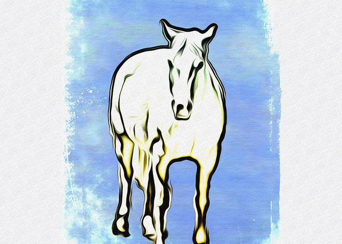 The Horse Greeting Card featuring the photograph The Horse by Bill Cannon