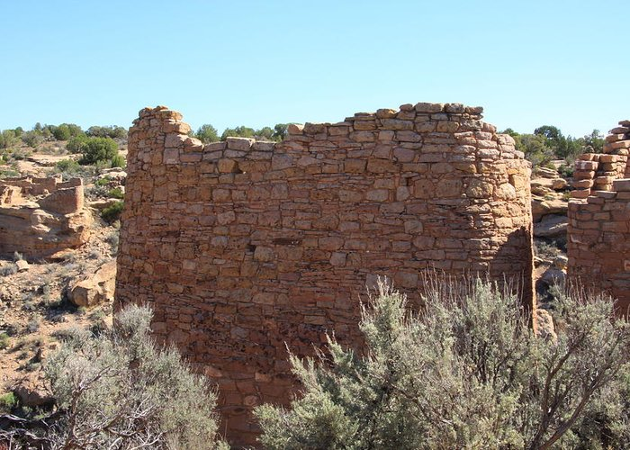 Hovenweep Greeting Card featuring the photograph The Hovenweep Twin Towers by Cynthia Cox Cottam