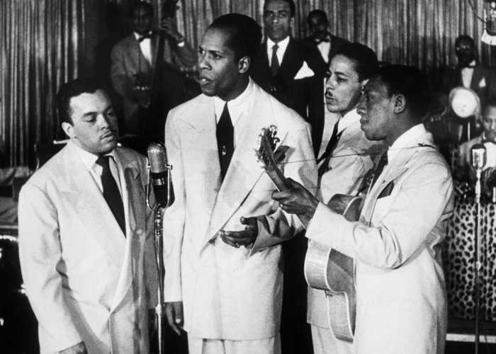 1945 Greeting Card featuring the photograph The Ink Spots, C1945 by Granger