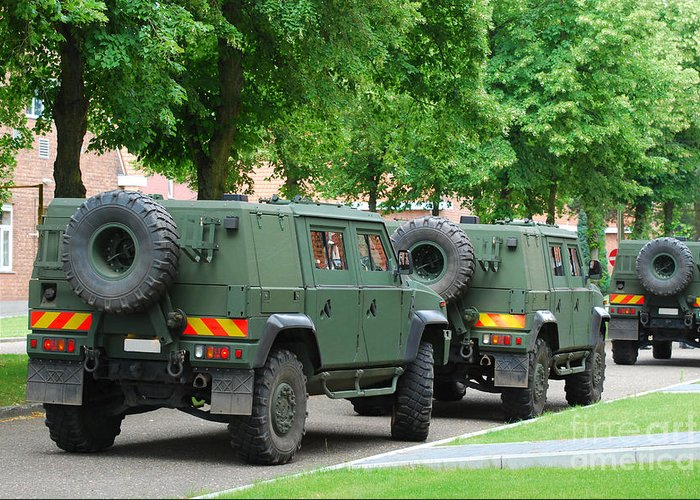 4x4 Greeting Card featuring the photograph The Iveco Lmv Of The Belgian Army by Luc De Jaeger