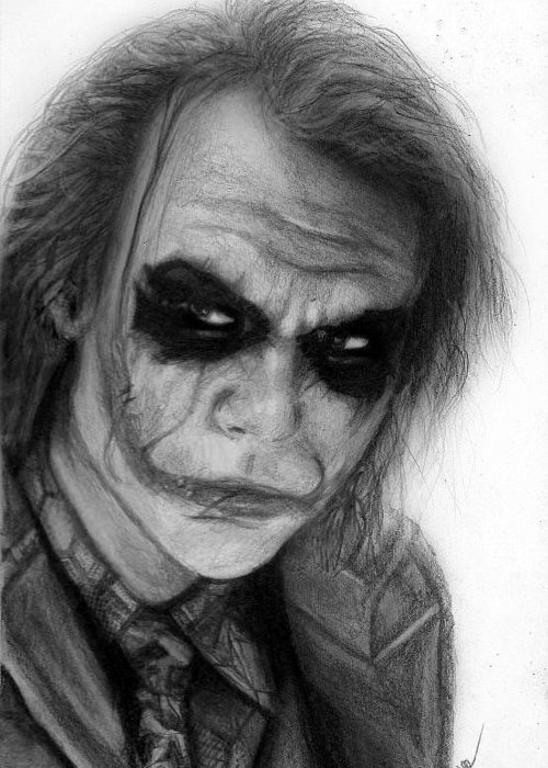 Nat Morley Greeting Card featuring the drawing The Joker by Nat Morley