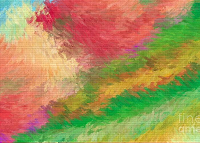 Abstract Greeting Card featuring the digital art The Journey by Deborah Benoit