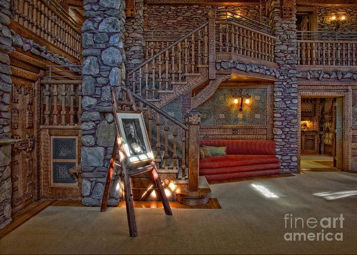 Gillete Castle Greeting Card featuring the photograph The King's Living Room by Susan Candelario
