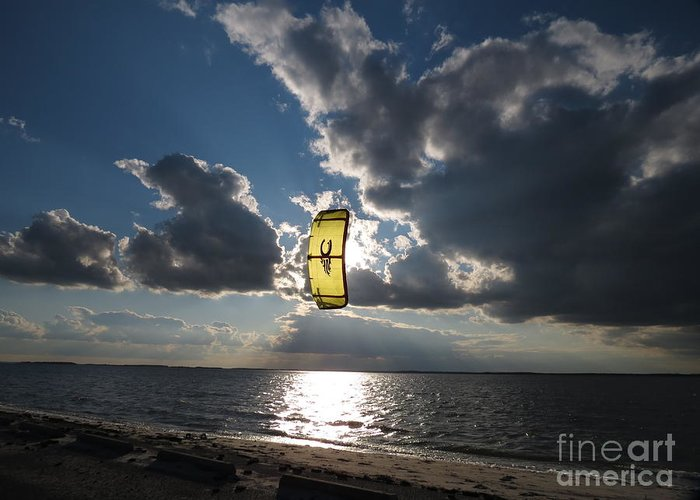 Kite Greeting Card featuring the photograph The Kite by Rrrose Pix