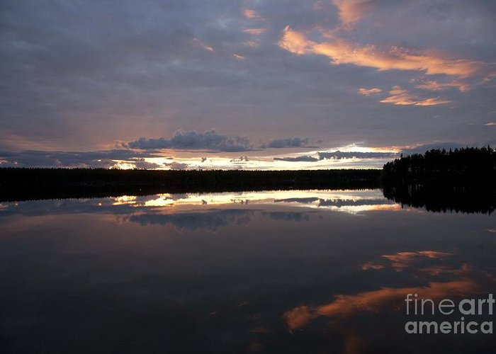 Water Greeting Card featuring the photograph The Last Glow by Heiko Koehrer-Wagner