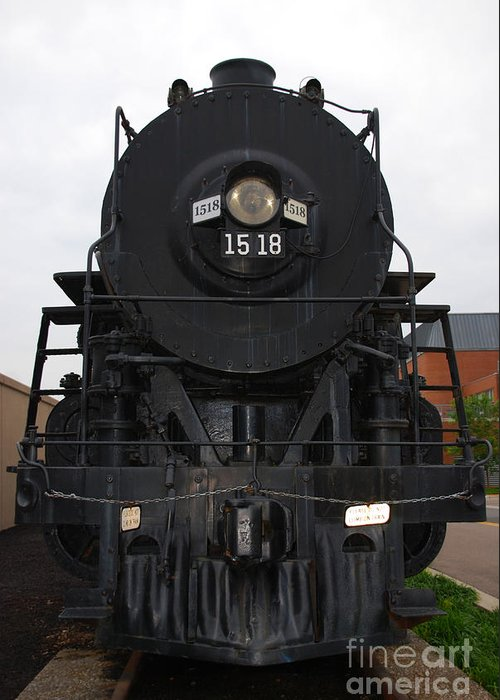 Locomotive Greeting Card featuring the photograph The Last Iron Horse Loc 1518 In Paducah Ky by Susanne Van Hulst