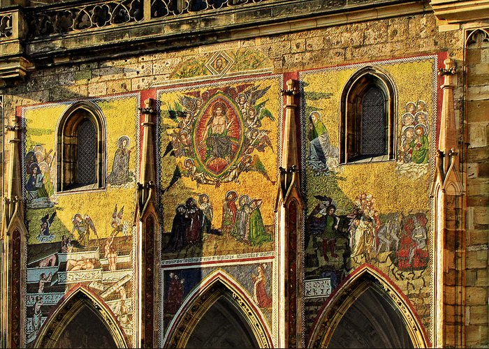 Judgment Greeting Card featuring the photograph The Last Judgment - St Vitus Cathedral Prague by Christine Till