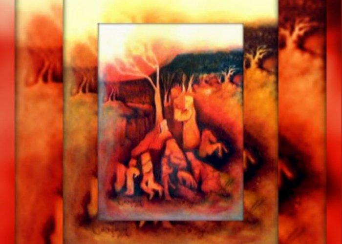 Archispray Art Greeting Card featuring the digital art The Letter 2 by Joan Kamaru