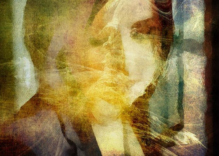 Woman Greeting Card featuring the digital art The Light Always Find Me by Gun Legler