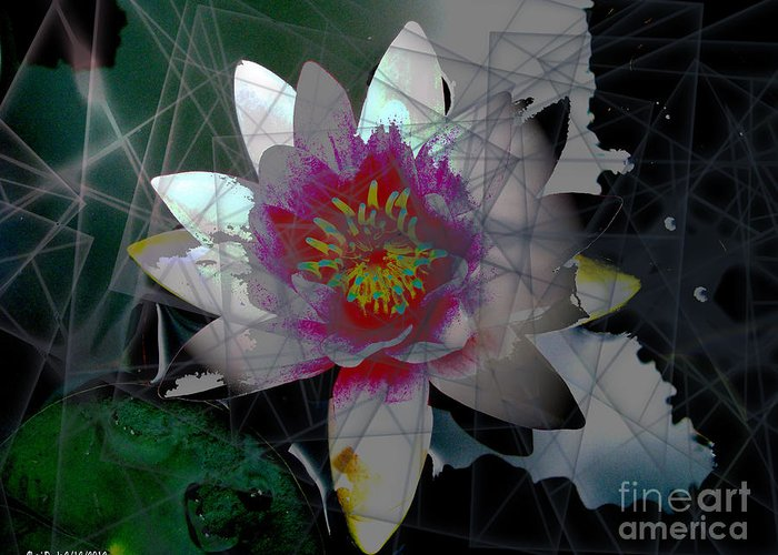 Light Greeting Card featuring the digital art The Light From Within by Cheri Doyle