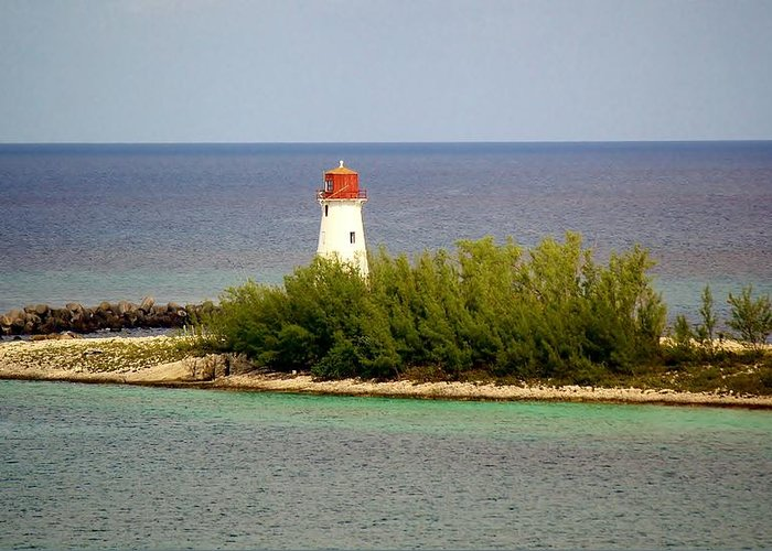 Light House Greeting Card featuring the photograph The Light House by Paulette Thomas