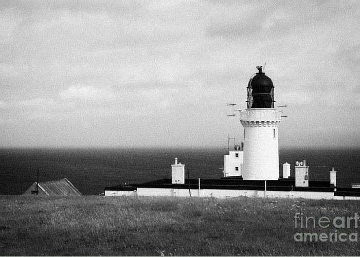 Dunnet Greeting Card featuring the photograph The Lighthouse At Dunnet Head Most Northerly Point Of Mainland Britain Scotland Uk by Joe Fox
