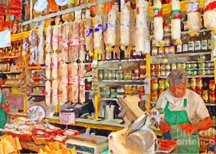 San Francisco Greeting Card featuring the photograph The Local Deli by Wingsdomain Art and Photography