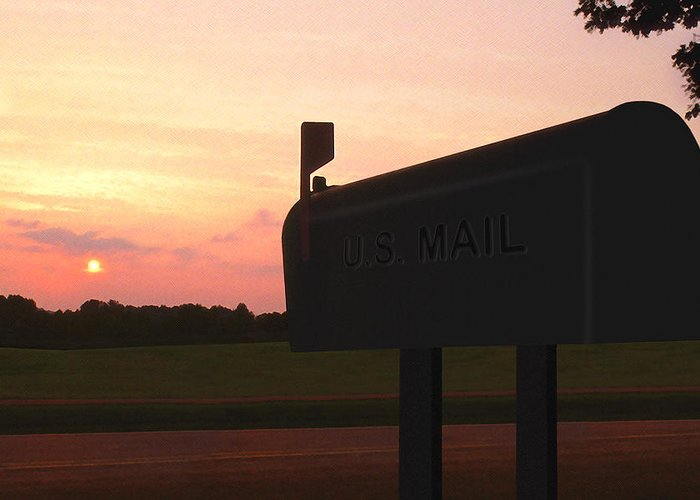 The Mail Of Old Greeting Card featuring the photograph The Mail Of Old by Mike McGlothlen