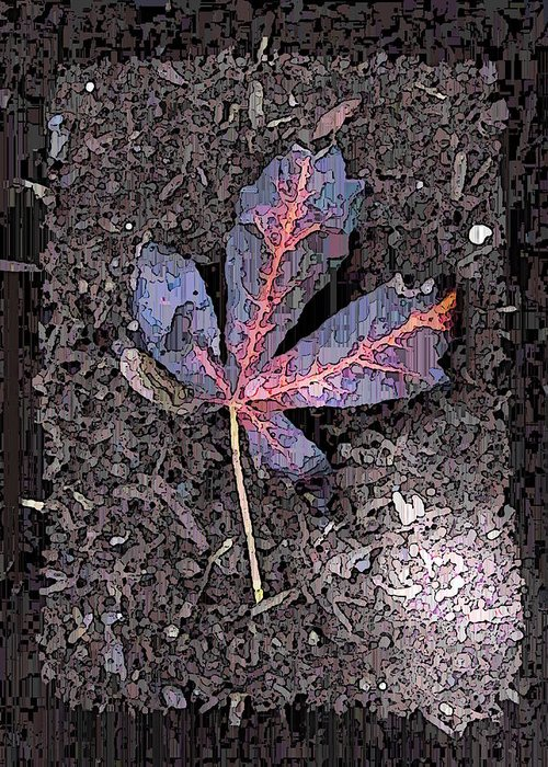Maple Greeting Card featuring the digital art The Maple 5 by Tim Allen