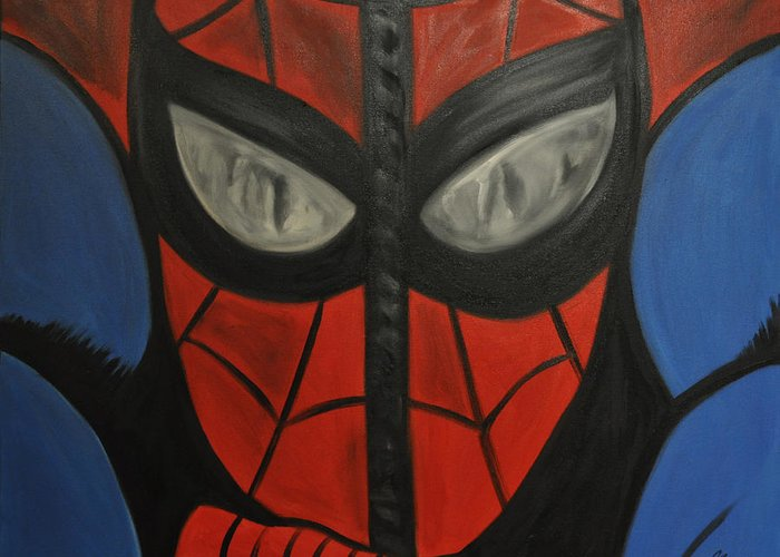 Mask Greeting Card featuring the painting The Mask by Mitchell Todd