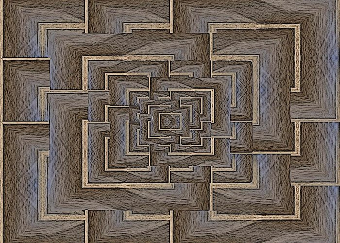 Maze Greeting Card featuring the digital art The Maze Within by Tim Allen