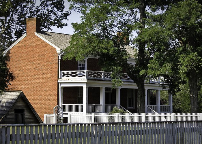 Appomattox Greeting Card featuring the photograph The Mclean House In Appomattox Virgina by Teresa Mucha