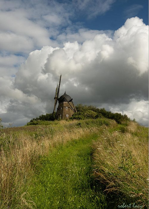 Windmill Greeting Card featuring the photograph The Mill At Aarup by Robert Lacy
