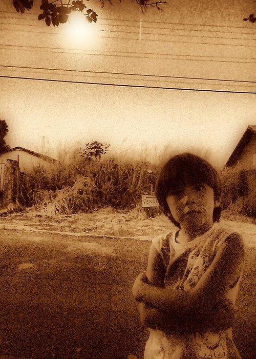 Photo Greeting Card featuring the photograph Polegar by Beto Machado