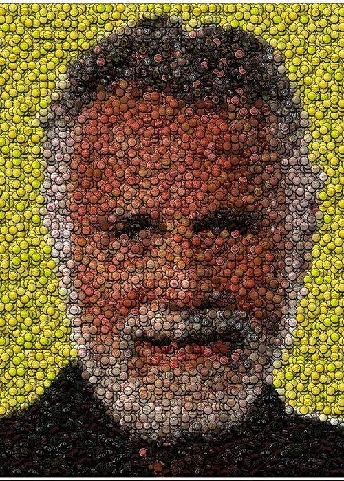 The Most Interesting Man In The World Greeting Card featuring the digital art The Most Interesting Mosaic In The World by Paul Van Scott