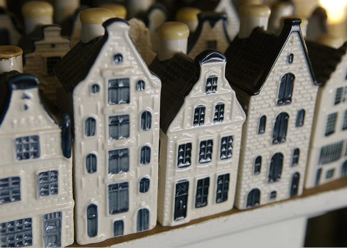 Cityscape Greeting Card featuring the photograph The Netherlands, Amsterdam, Model Houses by Keenpress