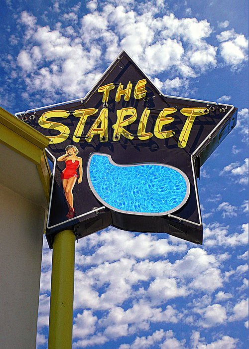 The Starlet Greeting Card featuring the photograph The New Starlet by Ron Regalado
