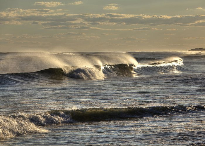 Ocean Greeting Card featuring the photograph The Ocean Winds by Steve Gravano
