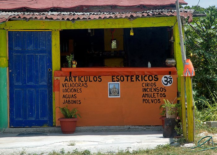 Mexico Greeting Card featuring the photograph The Old Curiosity Shop by Barry Doherty