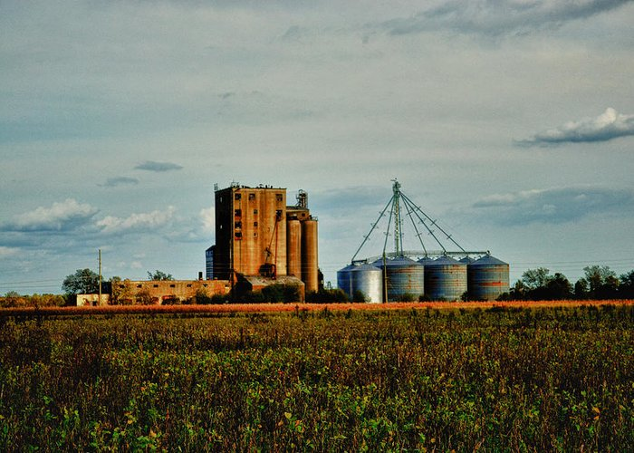 Old Greeting Card featuring the photograph The Old Grain Mill by Kelly Reber
